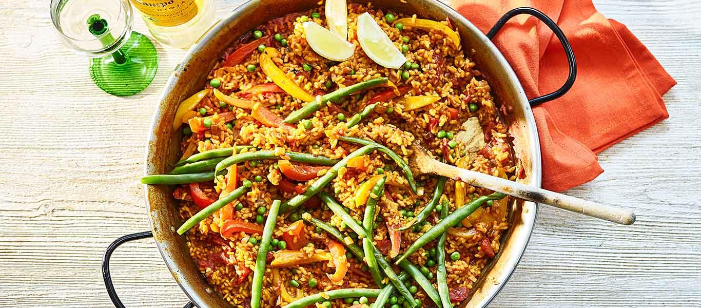 Vegetable Paella (cooked on BBQ)