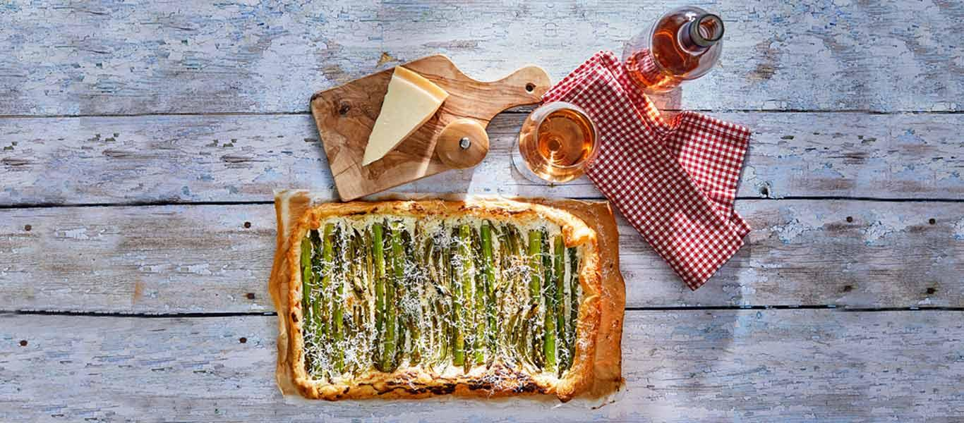 Asparagus and Green Bean Tart Recipe