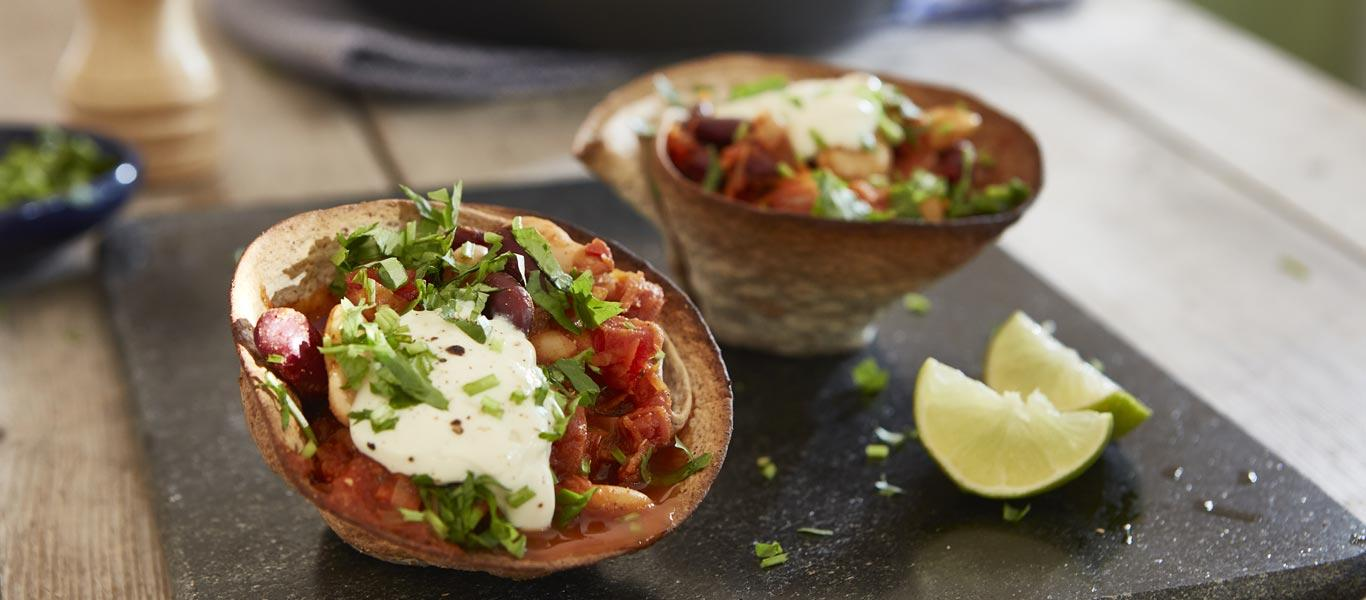 How to make Chilli Bean Tortilla Cups