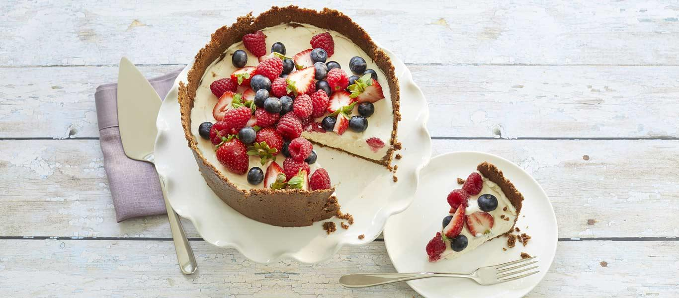 Chocolate & Mixed Berry Cheesecake recipe
