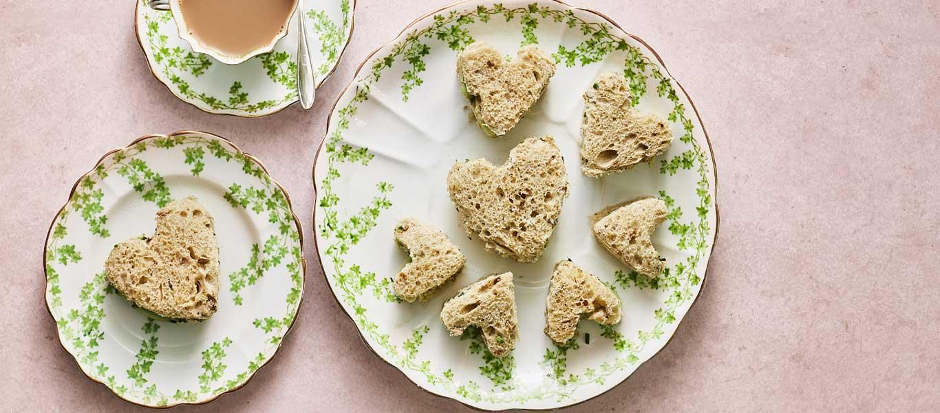 Cream Cheese & Cucumber Hearts - Mother's Day Recipes