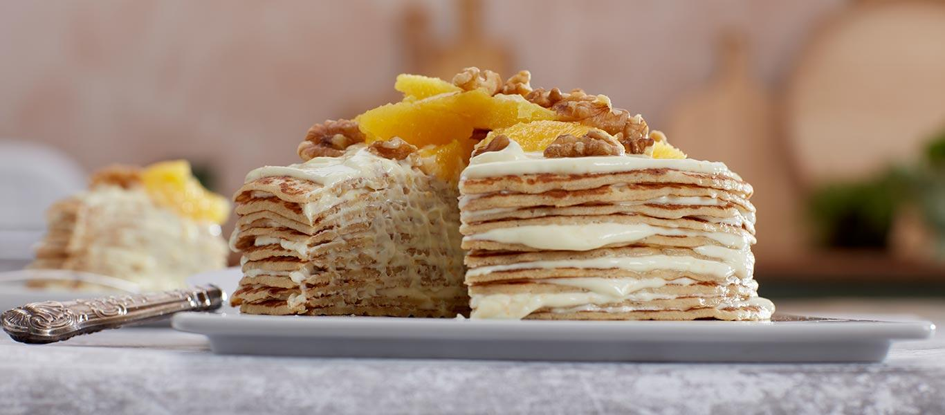 Pancake Day Recipes - Crepe Suzette Cake