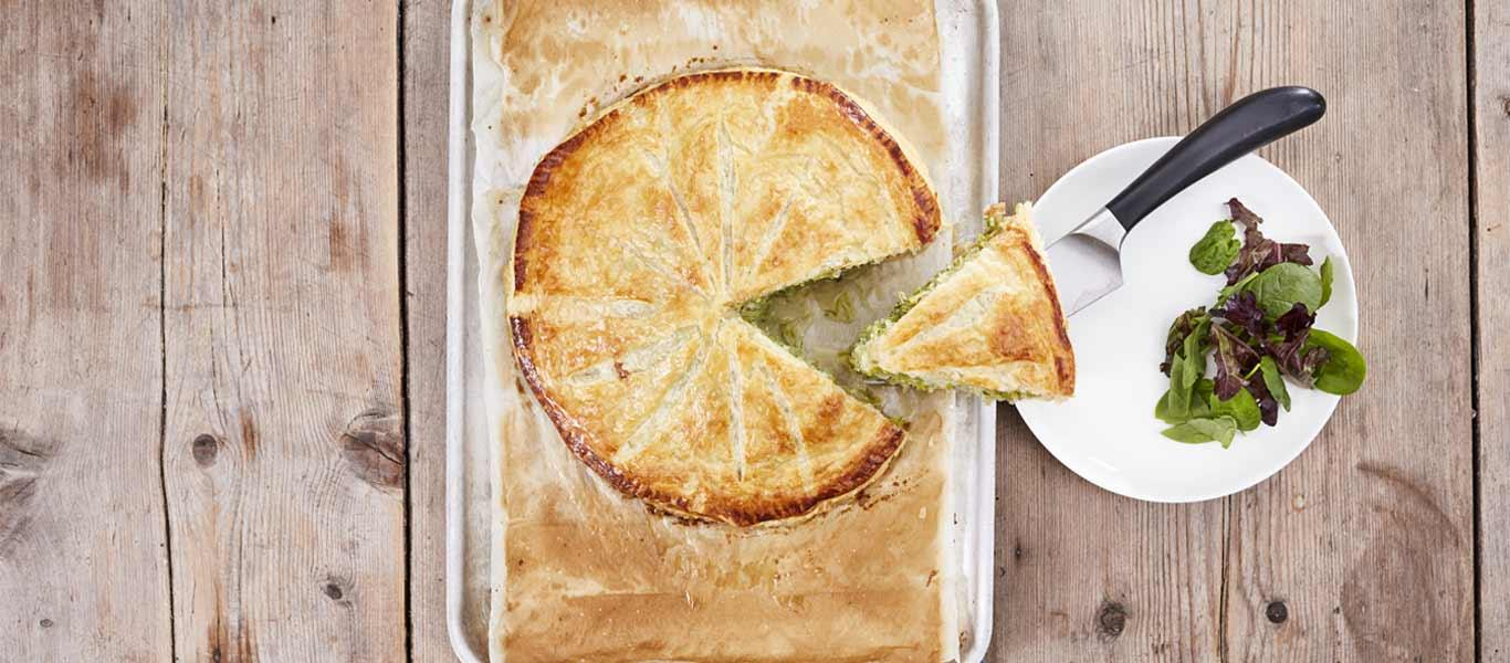LEEK AND BLUE CHEESE PITHIVIER  RECIPE