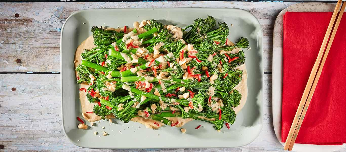 Grilled Broccoli with Soy Mayo Dressing Recipe