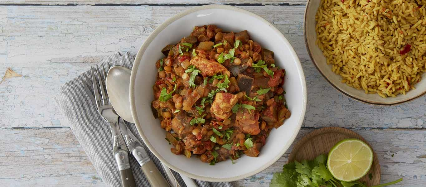 Chicken and Aubergine Curry Recipe