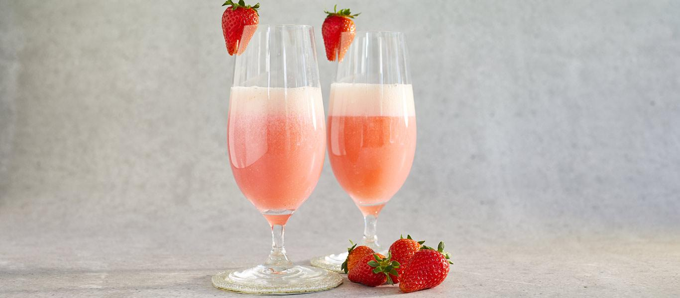 Strawberry and Rose Cocktail recipe