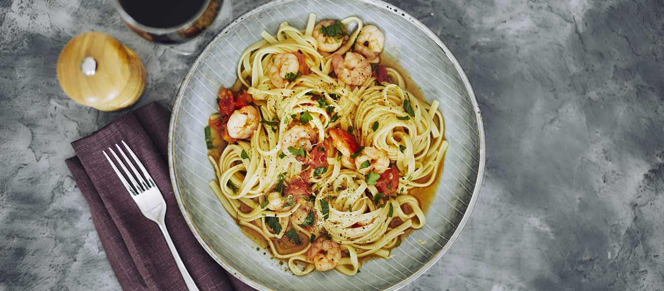 Tomato and Prawn Linguine Recipe