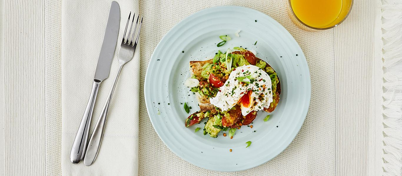 Ciabatta, Avocado and Poached Egg