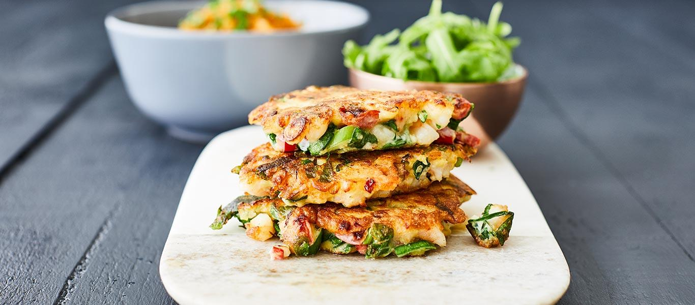 Prawn & Spinach Fritters
