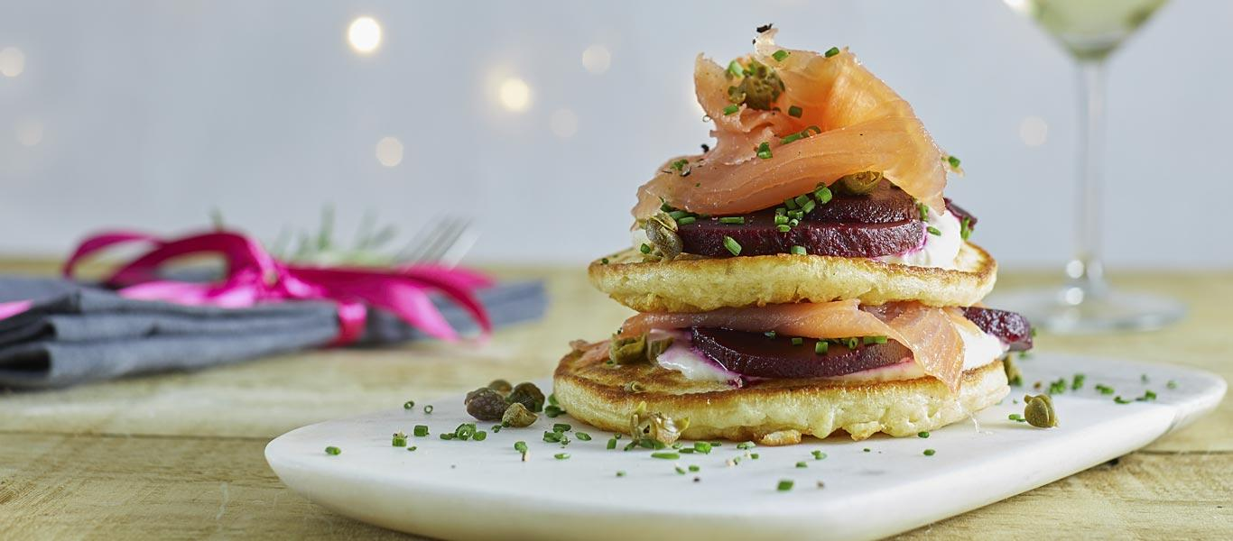 Smoked Salmon and Blini