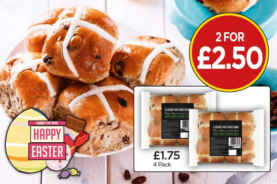 Happy Easter - Hot Cross Buns Offer