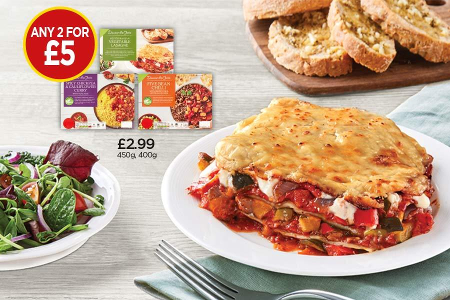 Any 2 for £5 Ready Meals