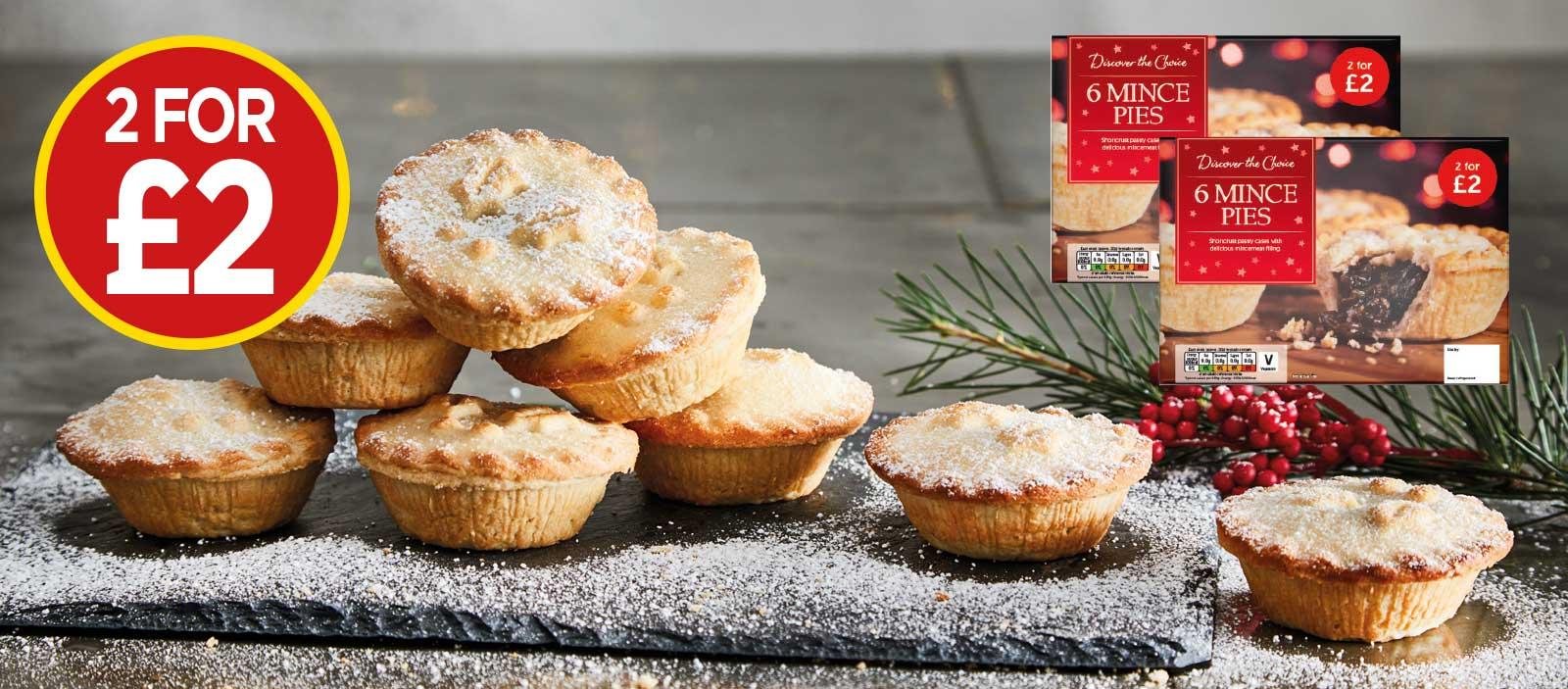 Discover The Choice Mince Pies - 2 For £2 at Budgens
