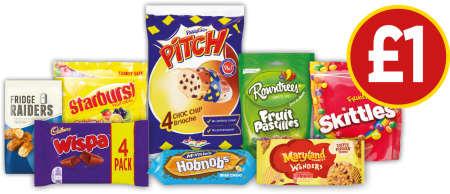 £1 DEALS: Starburst Original, Skittles Fruits, Maryland Cookies Wonders Toffee Popcorn Crunch, Pasquier Pitch Chocolate Chip Brioche and more - Now £1 at Budgens