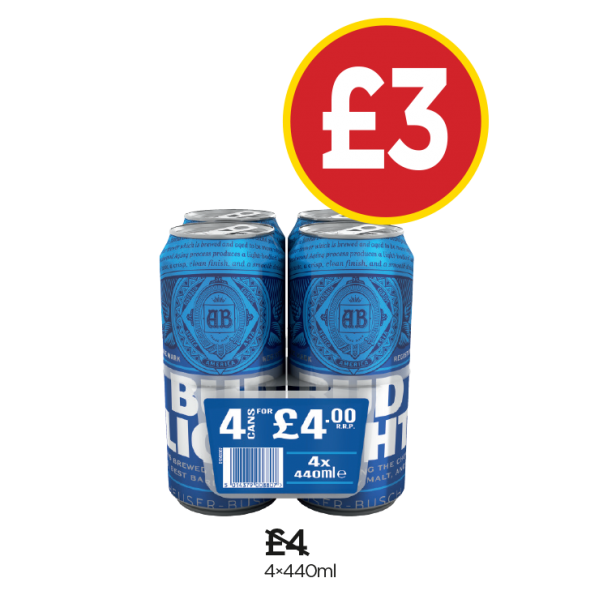 Bud Light - Was £4, Now £3 at Budgens