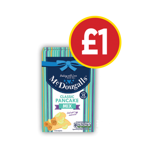 McDougalls Classic Pancake Mix - Was £1.75, Now £1 at Budgens