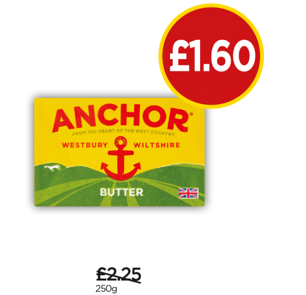 Anchor Butter - Was £2.25, Now £1.60 at Budgens