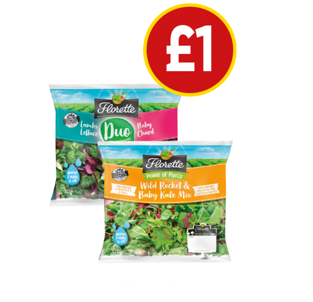 Florette Lambs Lettuce & Ruby Chard, Superfood Salad - Now £1 at Budgens