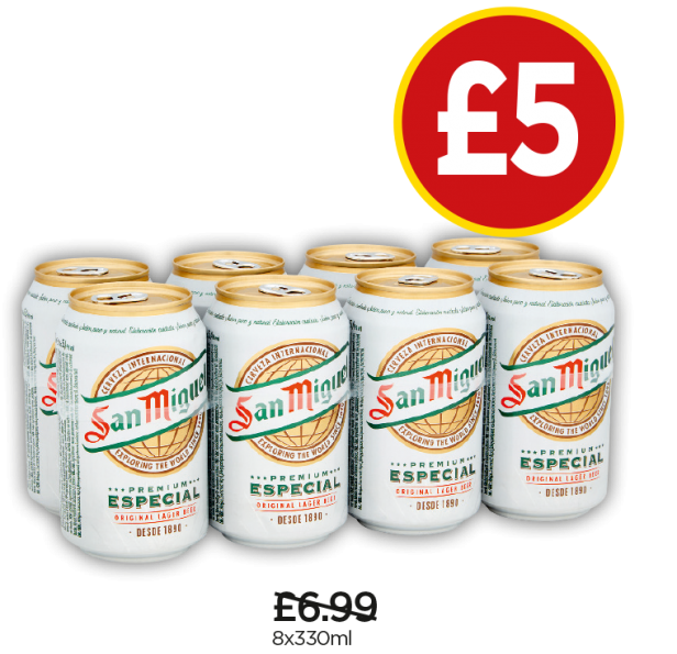 San Miguel - Was £6.99, Now £5 at Budgens