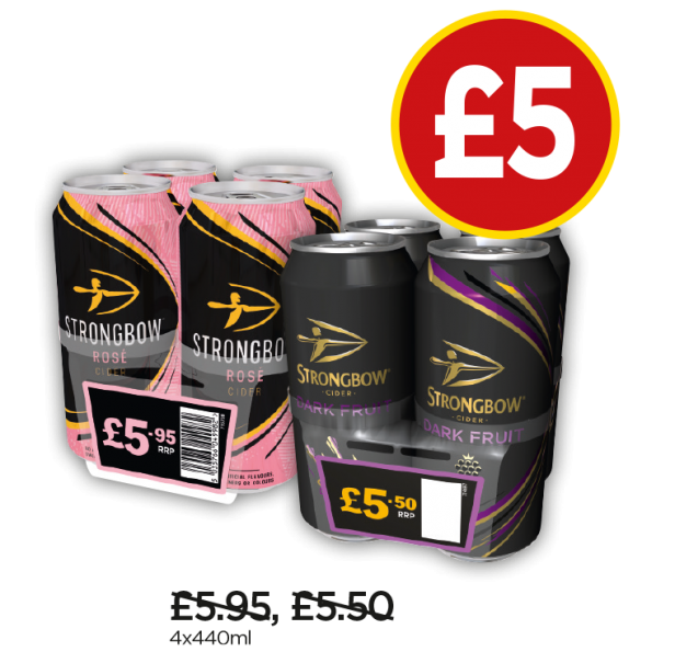 Strongbow Dark Fruit, Rose - Now £5 at Budgens
