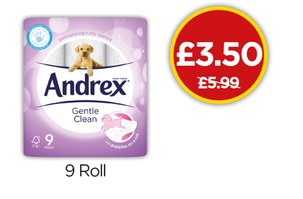 Andrex Gentle Clean Toilet Tissue - Was £5.99, Now £3.50 at Budgens