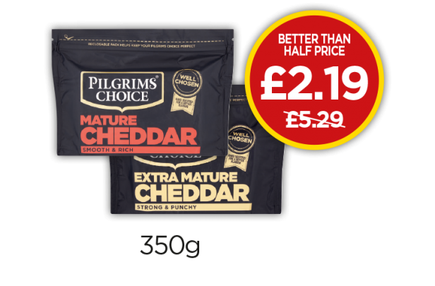 Pilgrims Choice Mature Cheddar, Extra Mature Cheddar - Better Than Half Price - £2.19 at Budgens