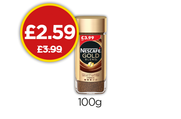 Nescafe Gold Blend - Was £3.99, Now £2.59 at Budgens