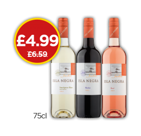 Isla Negra Wine - Was £6.59, Now £4.99 at Budgens