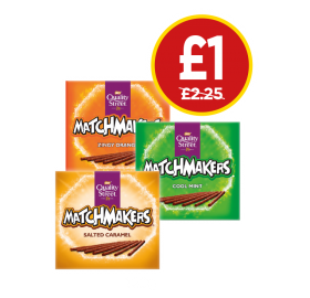 Quality Street Matchmakers Cool Mint, Orange, Salted Caramel - Was £2.25, Now £1 at Budgens