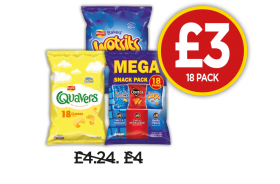 Walkers Quavers, Wotsits, Variety Snacks - Now £3 at Budgens