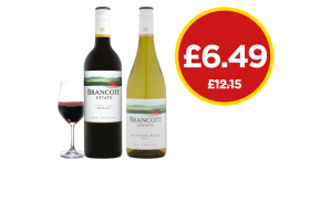 Brancott Estate Merlot, Sauvignon Blanc - Was £12.15, Now £6.49 at Budgens