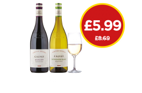 Calvet Release Sauvignon Blanc, Merlot - Was £8.69, Now £5.99 at Budgens