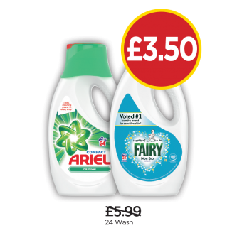 Ariel Original, Fairy Non-Bio Liquid - Was £5.99, Now £3.50 at Budgens
