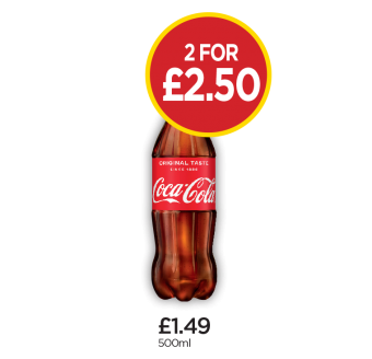 Coca Cola Original Taste - 2 for £2.50 at Budgens