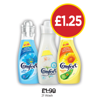Comfort Blue Skies, Pure, Sunshiny Days - Was £1.99, Now £1.25 at Budgens