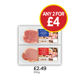 Discover The Choice Unsmoked Back Bacon, Smoked Back Bacon - Any 2 for £4 at Budgens
