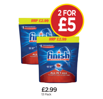 Finish Powerball All In One - 2 for £5 at Budgens