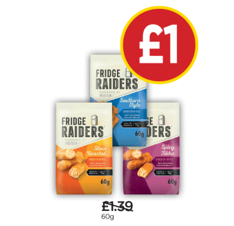 Fridge Raiders Roast Chicken, Southern Fried, Tikka - Was £1.39, Now £1 at Budgens