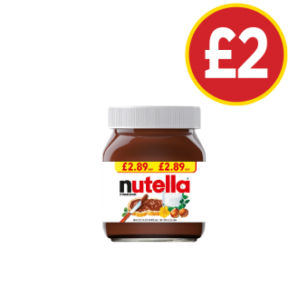 Nutella - Was £2.89, Now £2 at Budgens