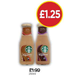 Starbucks Coffee Frappuccino, Mocha Frappuccino - Was £1.99, Now £1.25 at Budgens
