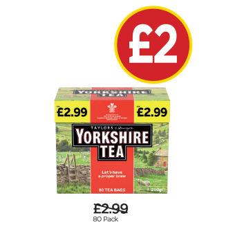 Yorkshire Tea Bags - Was £2.99, Now £2 at Budgens