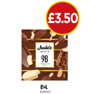 Jude's Mini Sticks - Was £4, Now £3.50 at Budgens