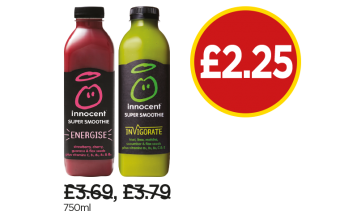 Innocent Super Smoothie Energise, Invigorate - Now £2.25 at Budgens
