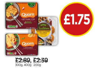 Cauldron Organic Falafel, Quorn Cottage Pie, Quorn Lasagne - Now £1.75 at Budgens