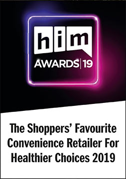 HIM awards 2019 Winner - Shoppers Favourite Convenience retailer Healthier Choices