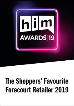 Him awards 2019 Winner - Shoppers Favourite Forecourt Retailer