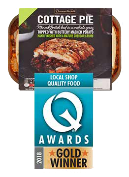 Quality Food Q Awards 2018 Gold Winner for Cottage Pie
